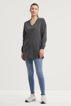 sweater tuniek donkergrijs
