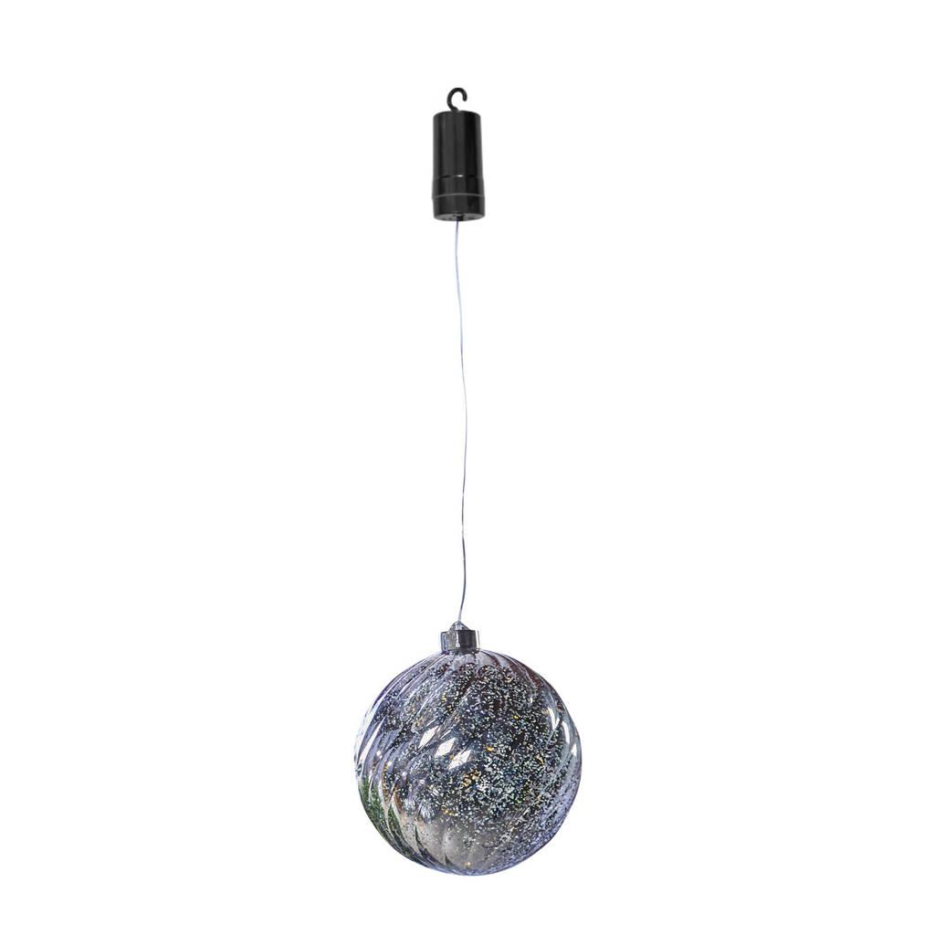 Luxform kerstverlichting X-Mas Ball Swirl, Zilver