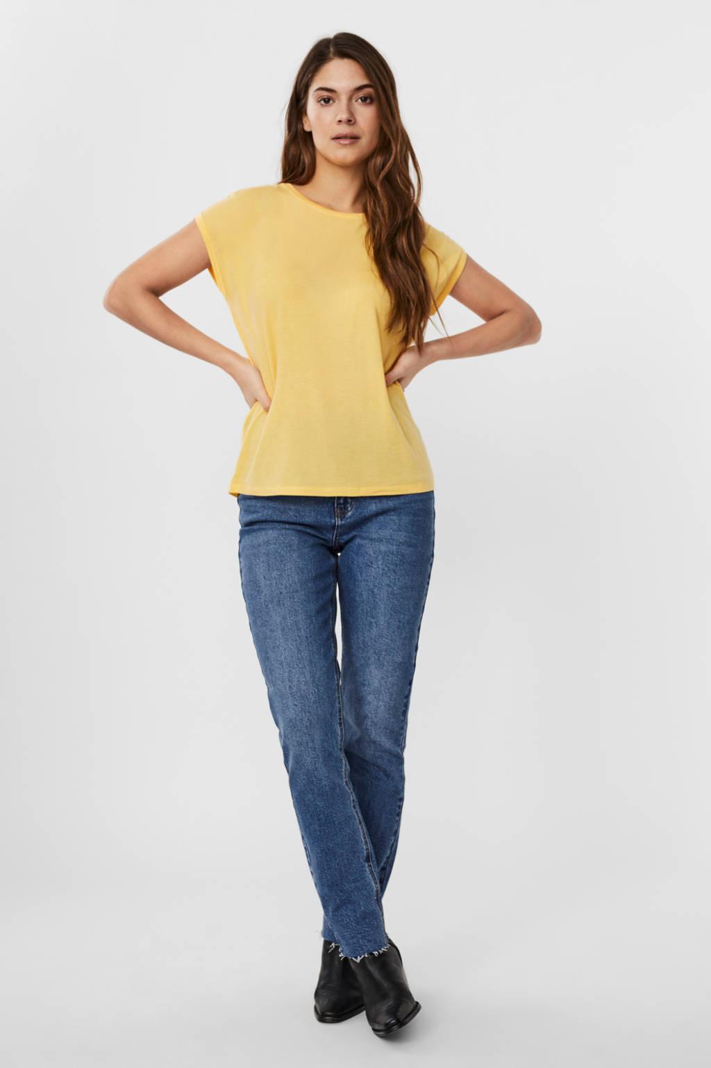 AWARE by VERO MODA T-shirt VMAVA geel, Geel