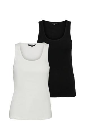 top VMJESSICA zwart/wit
