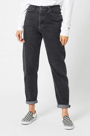 high waist tapered fit jeans Jadan washed black