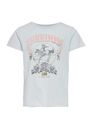 T-shirt Lucy van biologisch katoen lichtblauw