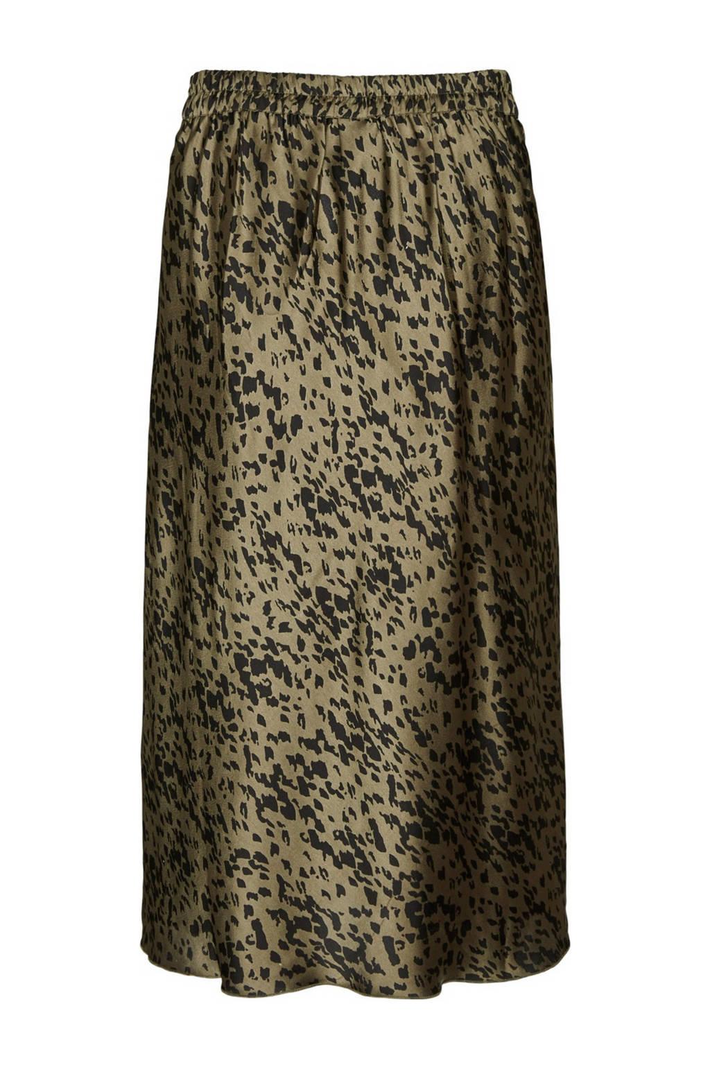 VERO MODA rok met slangenprint goen/zwart, Goen/zwart