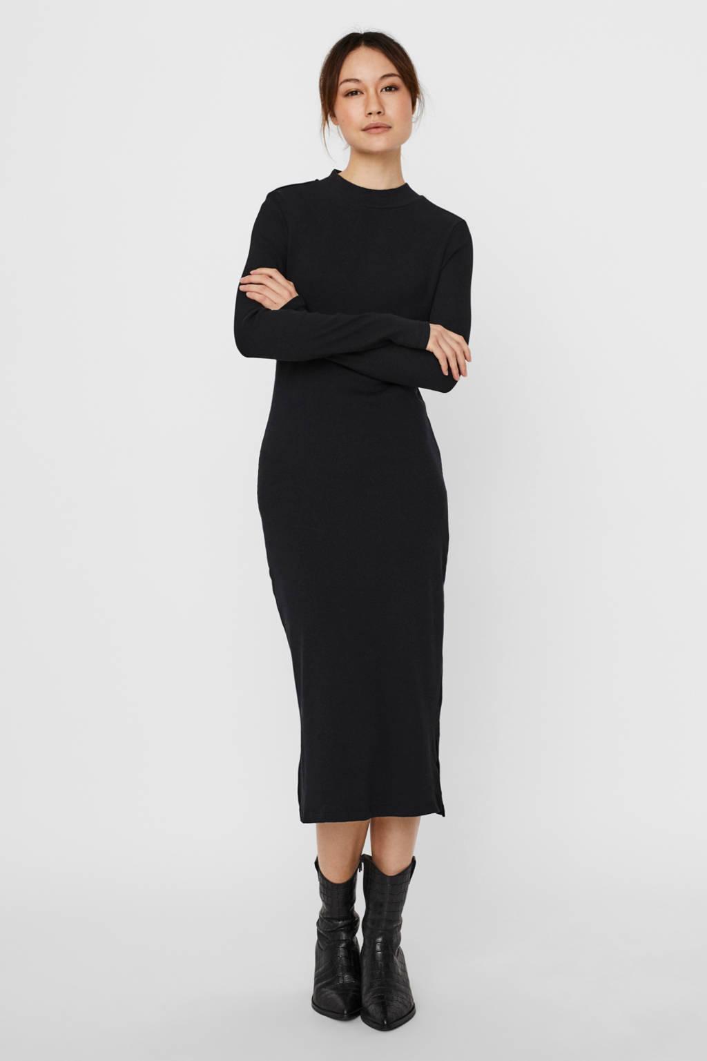 VERO MODA jurk met biologisch katoen zwart, Zwart