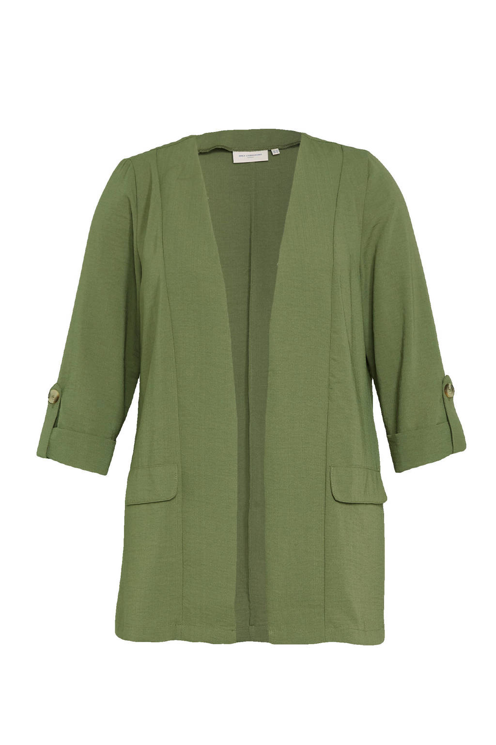 ONLY CARMAKOMA blazer groen, Groen