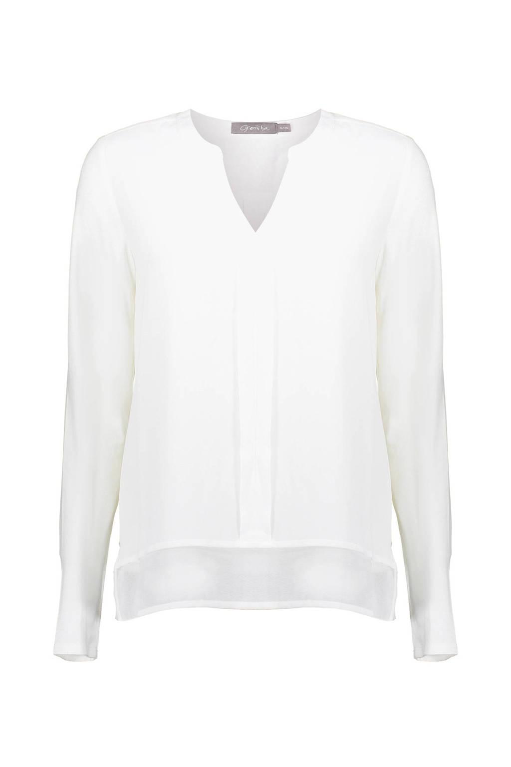 Geisha blouse wit, Wit