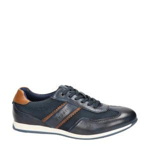 leren sneakers donkerblauw