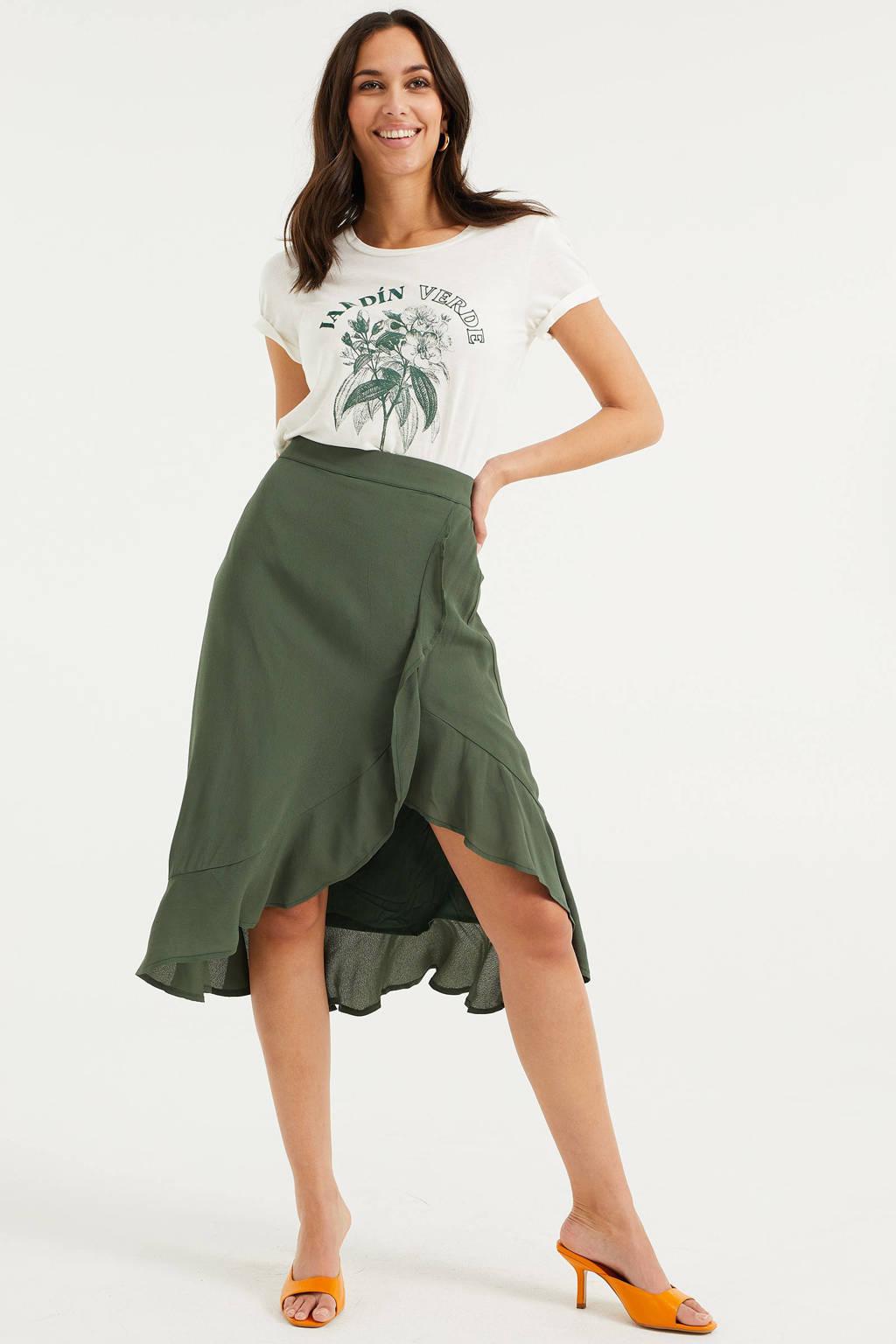 WE Fashion midi rok cilantro, Cilantro