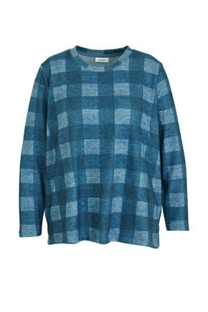 geruite sweater blauw