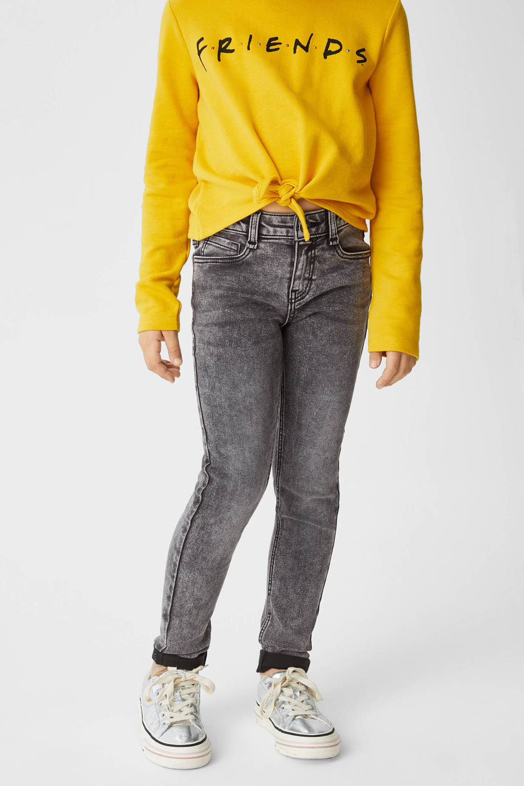 C&A Here & There skinny jeans antraciet, Antraciet