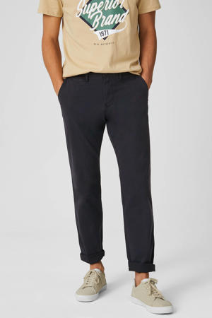regular fit chino donkerblauw