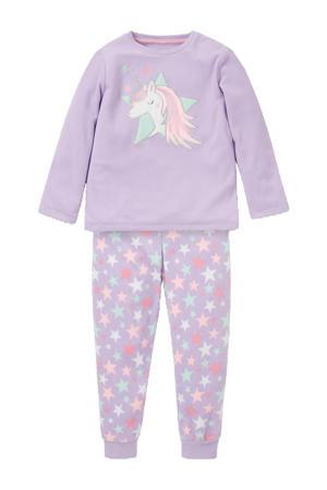Unicorn pyjama paars/roze