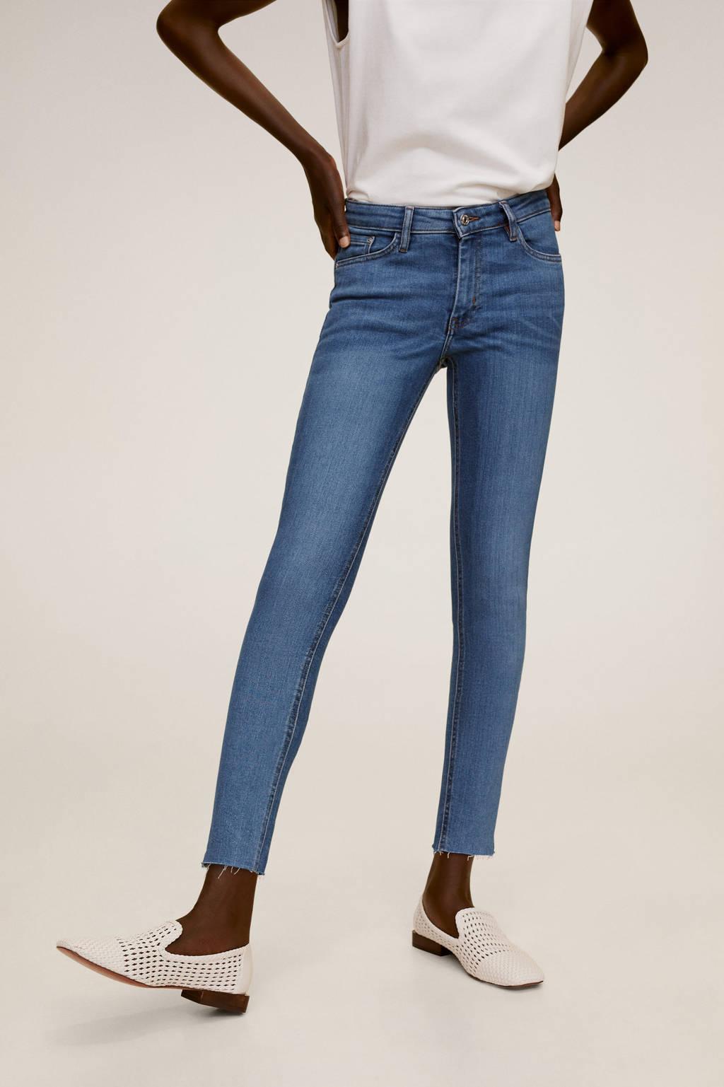 Mango cropped skinny jeans Isa blue
