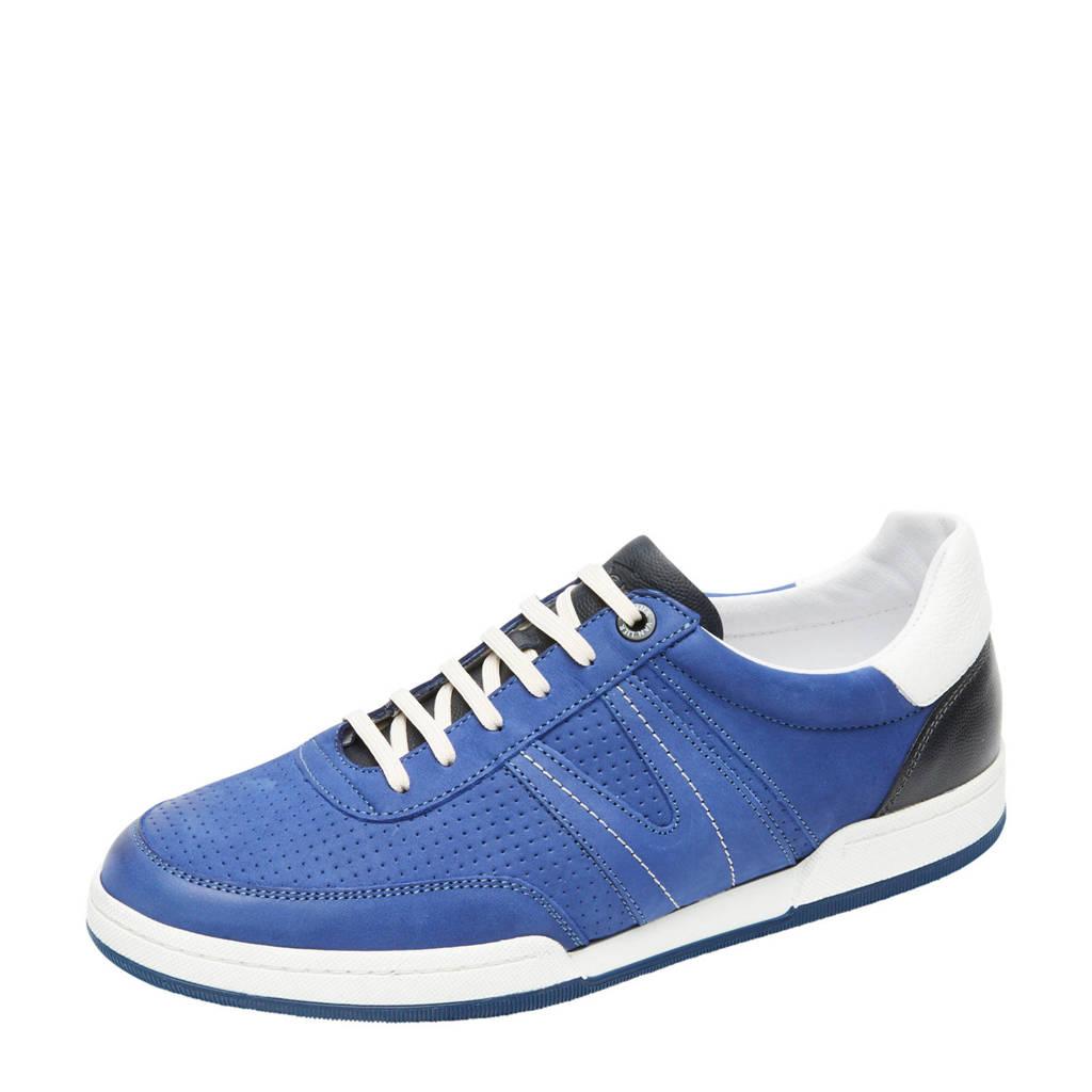 Van Lier Treviso  nubuck sneakers blauw, Blauw