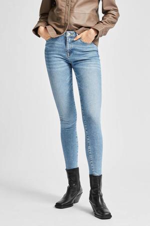 skinny jeans met biologisch katoen SLFSOPHIA medium blue denim