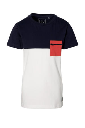 T-shirt Marlow donkerblauw/wit/rood