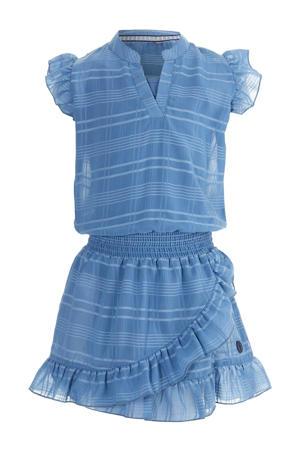 gestreepte jurk Maddie blauw