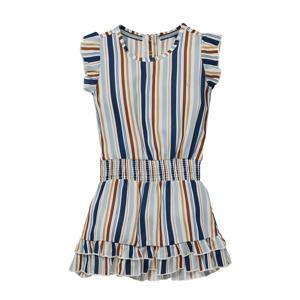 gestreepte jurk Nia lichtblauw/multicolor