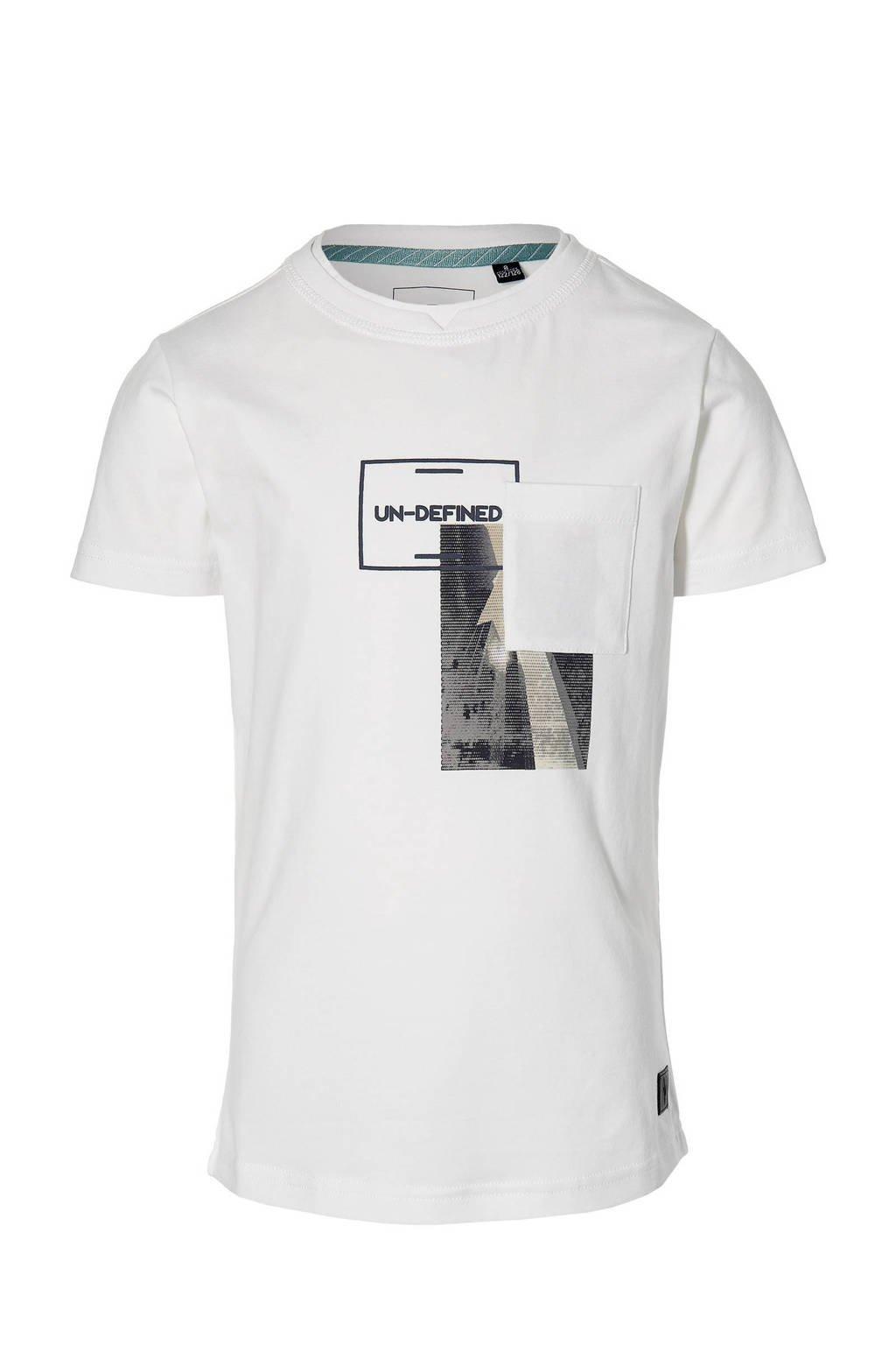 LEVV Boys T-shirt Maes met printopdruk wit, Wit