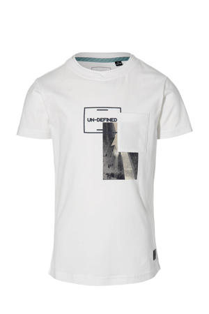 T-shirt Maes met printopdruk wit