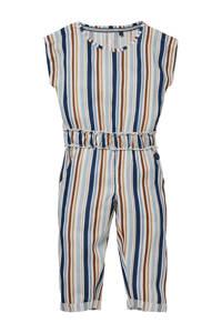 LEVV Little gestreepte jumpsuit Nella lichtblauw/multicolor, Lichtblauw/multicolor