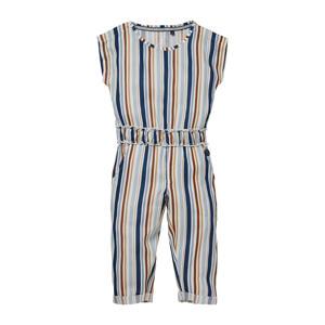 gestreepte jumpsuit Nella lichtblauw/multicolor