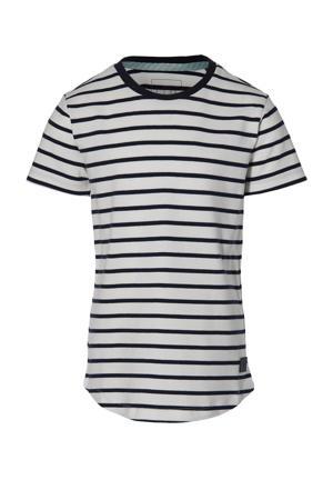 gestreept T-shirt Mats donkerblauw/off white