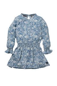 LEVV Little gebloemde jurk Nadine blauw/wit, Blauw/wit
