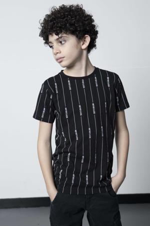 gestreept T-shirt Malin zwart/wit
