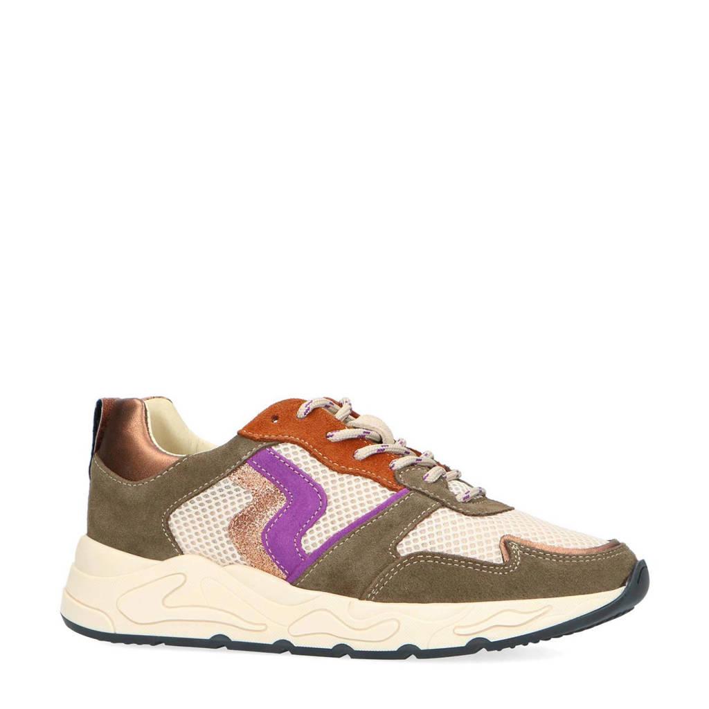 Sacha   suède sneakers olijfgroen/multi, Olijfgroen/multi