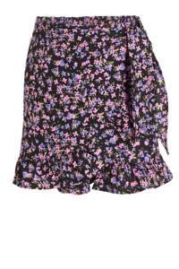 KIDS ONLY skort Linn zwart/roze/paars, Zwart/roze/paars