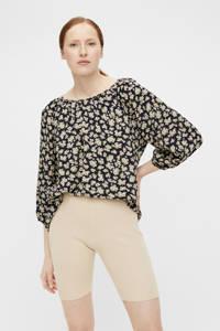 OBJECT blouse OBJANMIRA met all over print zwart, Zwart