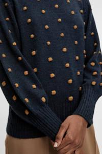 OBJECT gebreide trui OBJBOUBLE donkerblauw, Donkerblauw