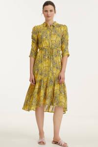Esqualo blousejurk met paisleyprint geel, Geel