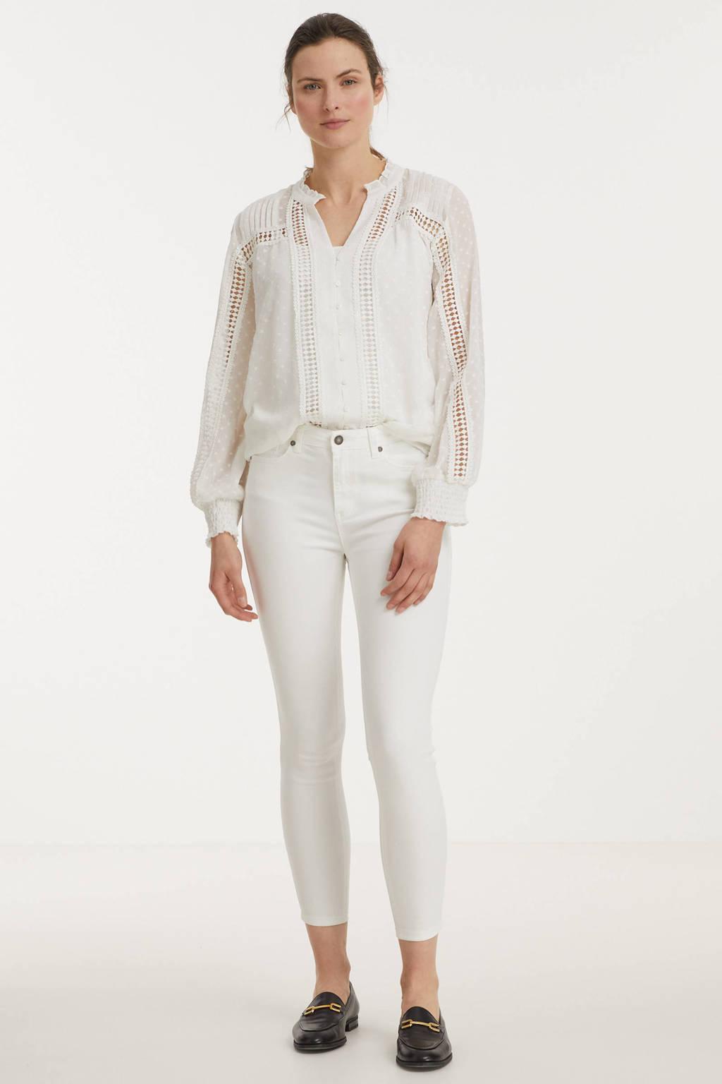 Esqualo high waist skinny jeans wit, Wit