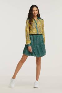 Esqualo blouse met all over print geel, Geel