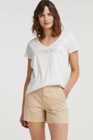 T-shirt met tekst wit
