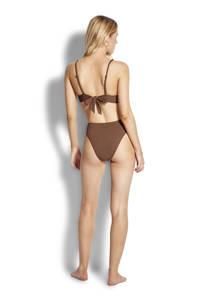 Seafolly high leg bikinibroekje bruin, Bruin