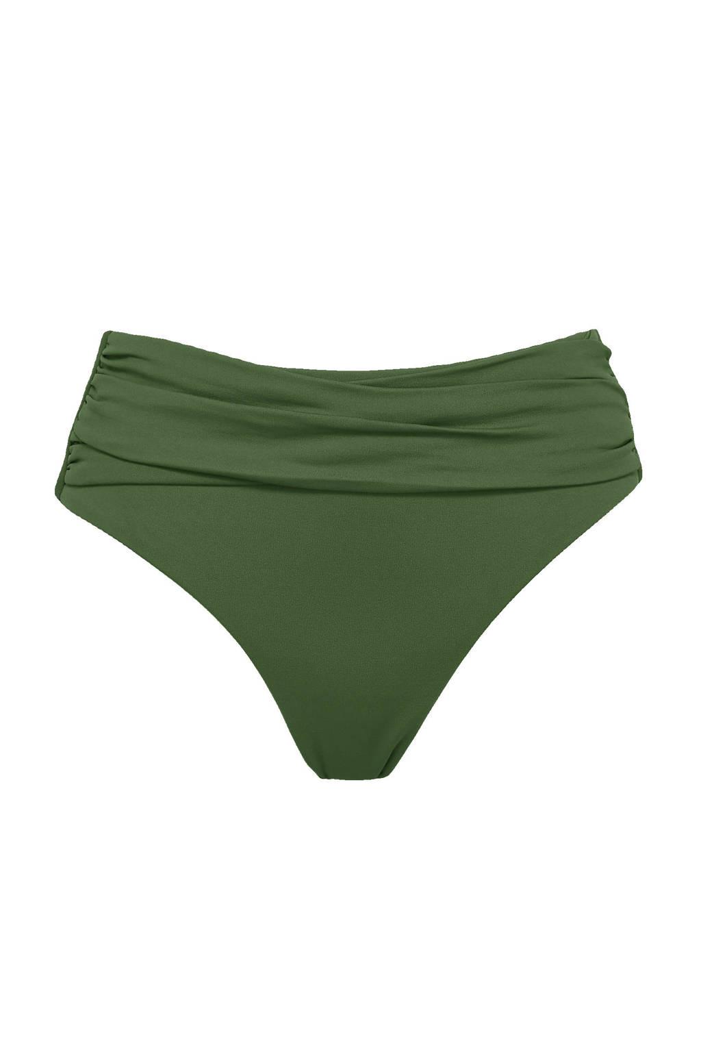 Seafolly omslag bikinibroekje donkergroen, Donkergroen