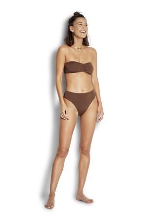 strapless bandeau bikinitop bruin