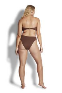 Seafolly strapless bandeau bikinitop bruin, Bruin