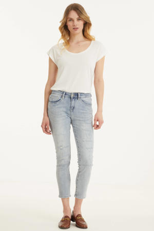 straight fit jeans light blue denim