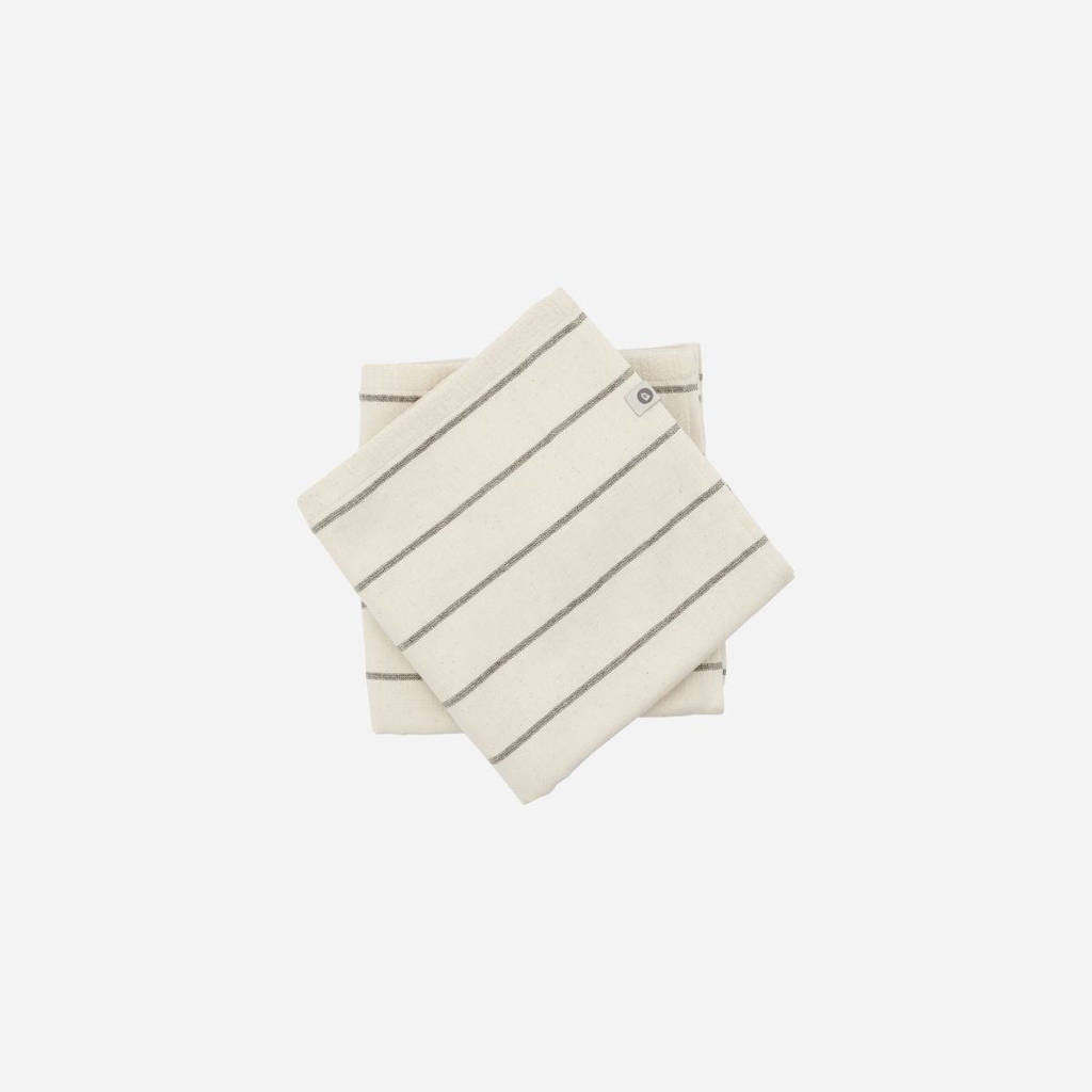 House Doctor handdoek Casa (set van 2) (50 x 70 cm) ecru, Ecru