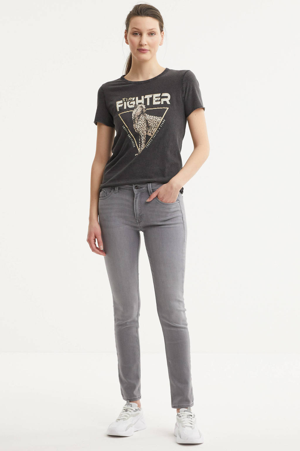 ONLY T-shirt met printopdruk zwart, Zwart