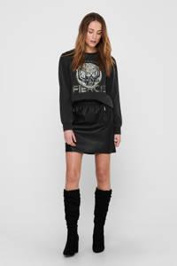 ONLY sweater ONLLUCINDA van biologisch katoen zwart, Zwart