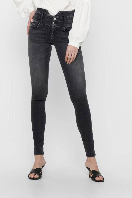 ONLY high waist skinny jeans ONLBLUSH donkergrijs, Donkergrijs