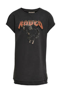 KIDS ONLY T-shirtjurk Brandy met biologisch katoen antraciet/rood/zwart, Antraciet/rood/zwart