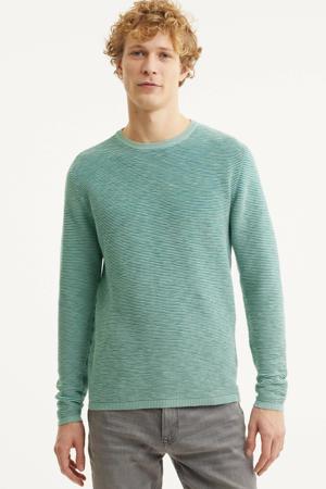 fijngebreide trui lichtgroen