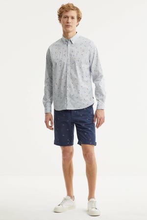 slim fit overhemd met all over print mintgroen