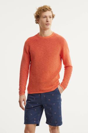 fijngebreide trui oranje